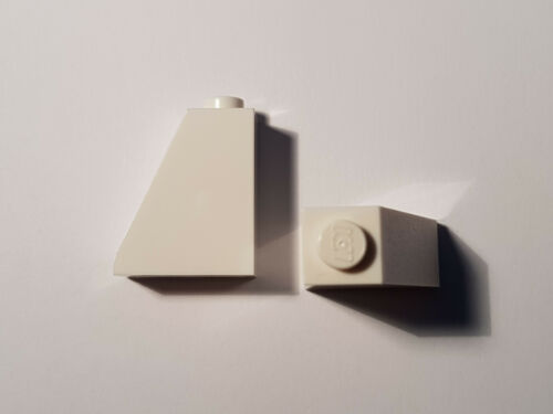 LEGO ® 4 x 60481 tetto obliquo pietra 65 ° 2 x 1 x 2 BIANCO 4515370 #bc05
