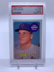 1969 Topps #480 Tom Seaver New York Mets HOF PSA 6 EX MT