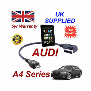 AUDI-A4-Series-4f0051510m-CABLE-PARA-AMAZON-KINDLE-FIRE-HD-MICRO-USB-CONECTOR