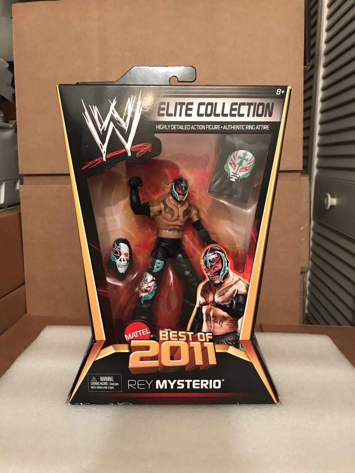 WWE MATTEL ELITE Collection mejor de 2011 Rey Mysterio Jr. Raro MOC 619 Nuevo