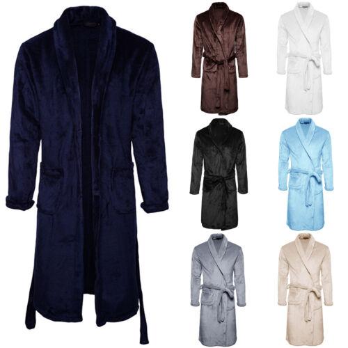 Luxury Adult Mens Unisex Dressing Gown Bathrobe Winter Warm Bathrobe Fleece Fur