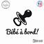 Sticker Bebe a bord tetine Decal Aufkleber Pegatinas D-127 Couleurs au choix