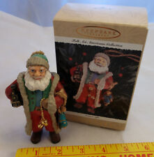 Hallmark 1996 Santas Gifts Ornament Folk Americana Collection Sickman