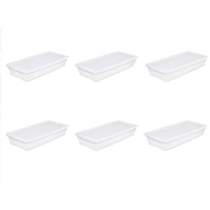 6pcs Sterilite Storage Organizer Plastic Box Storage Under The Bed Containers