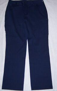 DULUTH-TRADING-CO-Navy-Blue-Wear-With-All-Ponte-Knit-Pants-Size-12-x-31-NWT