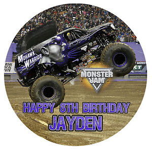 Monster Jam Cake Topper Australia
