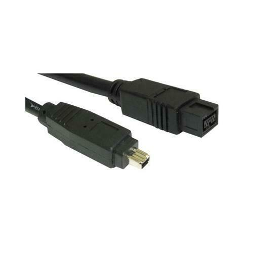 GP1136 Firewire 9 Pin to 4 Pin BLACK Cable 2 Metres Lead DV out to PC