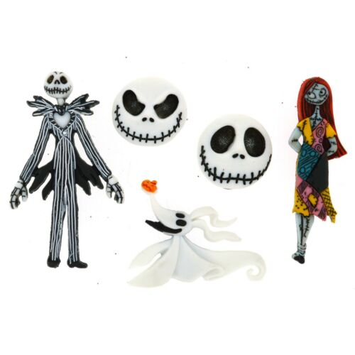 Disney Dress It Up 1 pack THE NIGHTMARE BEFORE CHRISTMAS Buttons 5 Pieces