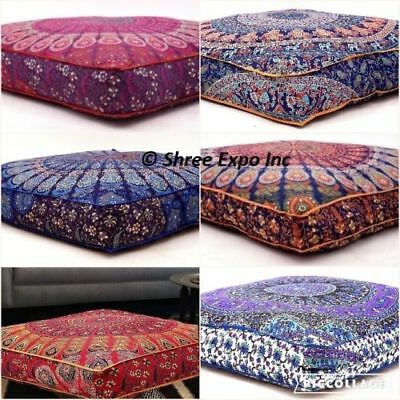 Large Mandala Floor Cushion Throw Square Pillow Cover,Dog Bed Cover Decor Home