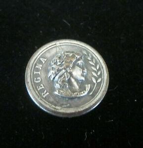 Antique-Embossed-Silver-034-Regina-034-Button-7-8-034-D-Rare