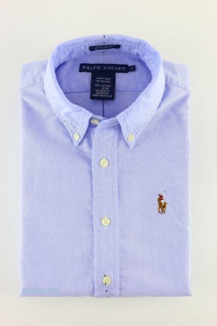 NWT POLO RALPH LAUREN Women's Long Sleeve Oxford Button Down Shirt Classic Fit