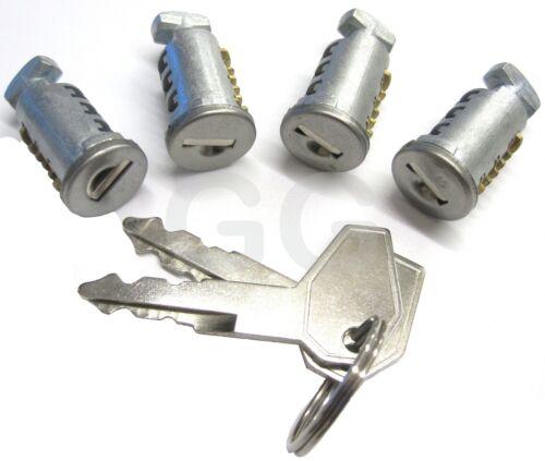 Set of 4 Barrel Locks & 2 Keys Fits Thule Mont Blanc Roof Bars & Cycle Carriers