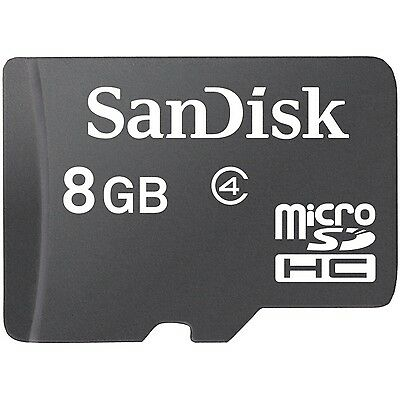 Lot 10 Pcs SanDisk 8G MicroSDHC Micro SD SDHC 8GB 8 G GB TF Memory Card Class 4