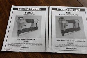 Stanley-Bostitch-S32-Pneumatic-Stapler-Operation-Maintenance-Manual-1994-S32SX