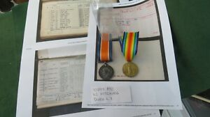 VICTORY-WAR-MEDAL-PAIR-10253-PRIVATE-WILLIAM-KITCHING-DURHAM-LIGHT-INFANTRY