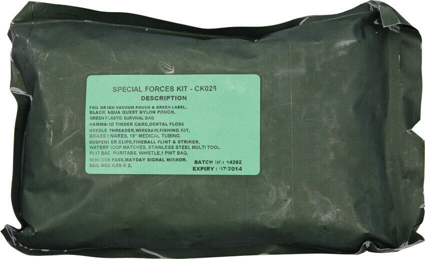 NIB Bushcraft Special Forces Survival Kit Designed by Special Forces. A comprehe