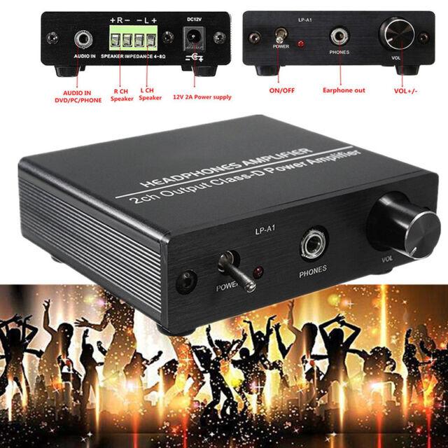 Neu 2 Kanal Hi-Fi Stereo Audio Kopfhörer Verstärker Ausgang Klasse D Leistung
