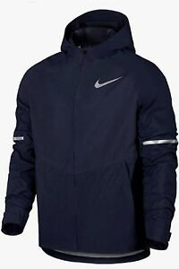 Details about NIKE Zonal AeroShield Navy Blue Reflective FZ Hoodie Running Jacket Mens M L