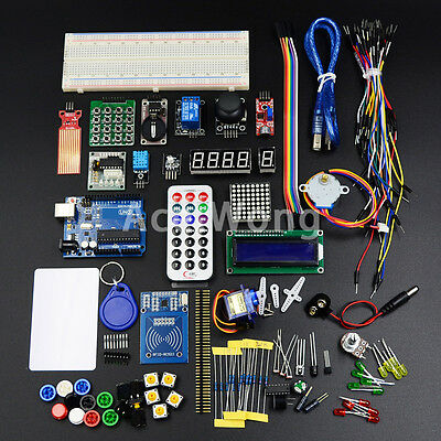 NEW RFID Master Kit with UNO R3 Motor Relay LCD Servo for Arduino AVR Starter