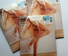 JC Penney Control Top Pantyhose 3 Packages Long White Sheer Caress Sandal Foot