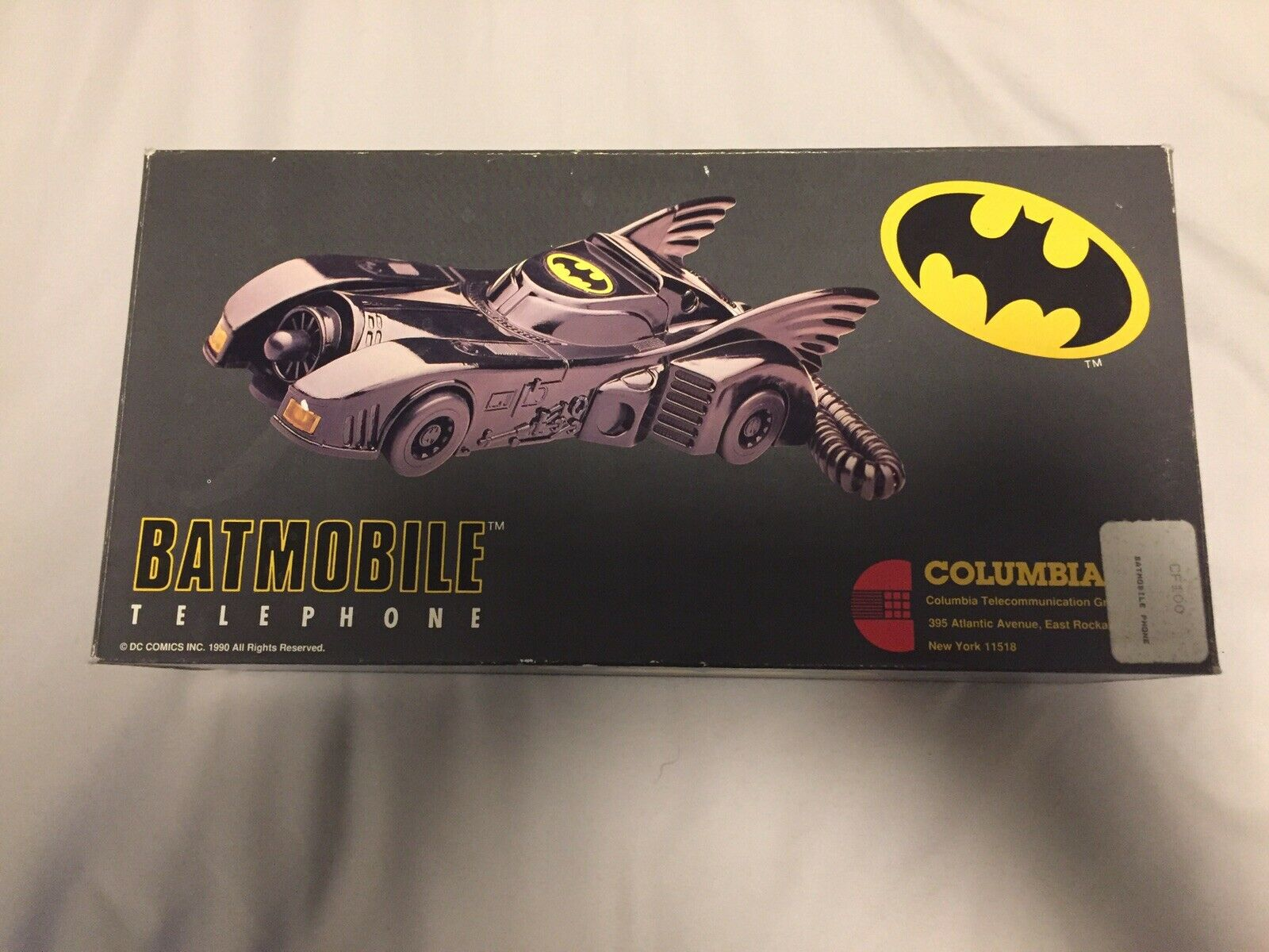 URSPRUNG 1990 BATTMAN BATTMOBILE FILMEN TELEFON I BOX, Working Touch Tone