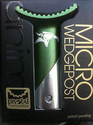 ANIMAL Pivotal Wedge BMX Seat Post Micro Short Self-clamping GREEN