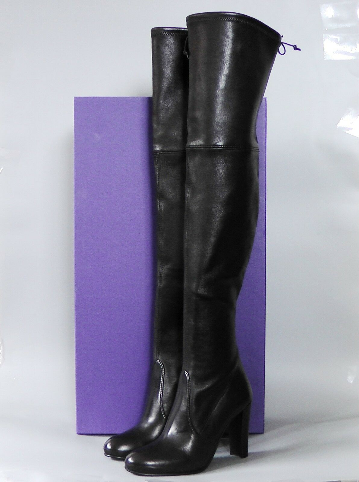 fabbrica diretta NEW Stuart Weitzman Highland Over-the-Knee stivali Shoe, Shoe, Shoe, nero Leather, 5M,  875  economico e alla moda