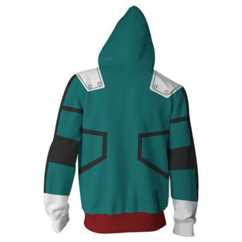 My Boku No Hero Academia Costume Midoriya Izuku Battle Cosplay Jacket Hoodie