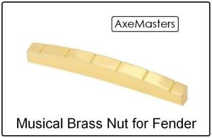 """AxeMasters 1 5//8/"""" 41mm Slotted BONE NUT made for Fender Guitar Strat Tele"""