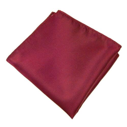 Mens Plain Pocket Square Wedding Solid Handkerchief Hanky Jacket Suit Boys