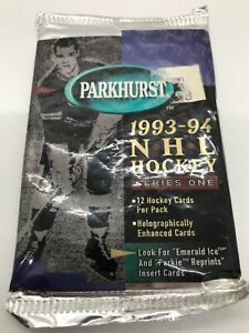 1993-Parkhurst-series-1-NHL-Hockey-Cards-1-Pack-Of-12-Cards-Factory-Sealed