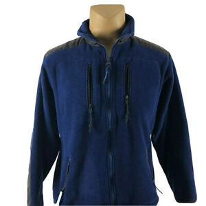 LL-Bean-Men-039-s-Fleece-Jacket-Full-Zip-Blue-Turtleneck-Sweater-SZ-M-Medium