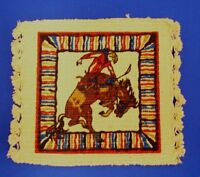 Coasters Western Design Four Piece Set Cotton Rodeo Saddle Bronc With Border