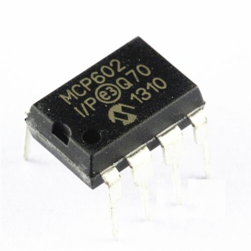 5 PCS MCP602 MCP602-I//P IC OPAMP DUAL SNGL SUPPLY DIP-8 NEW