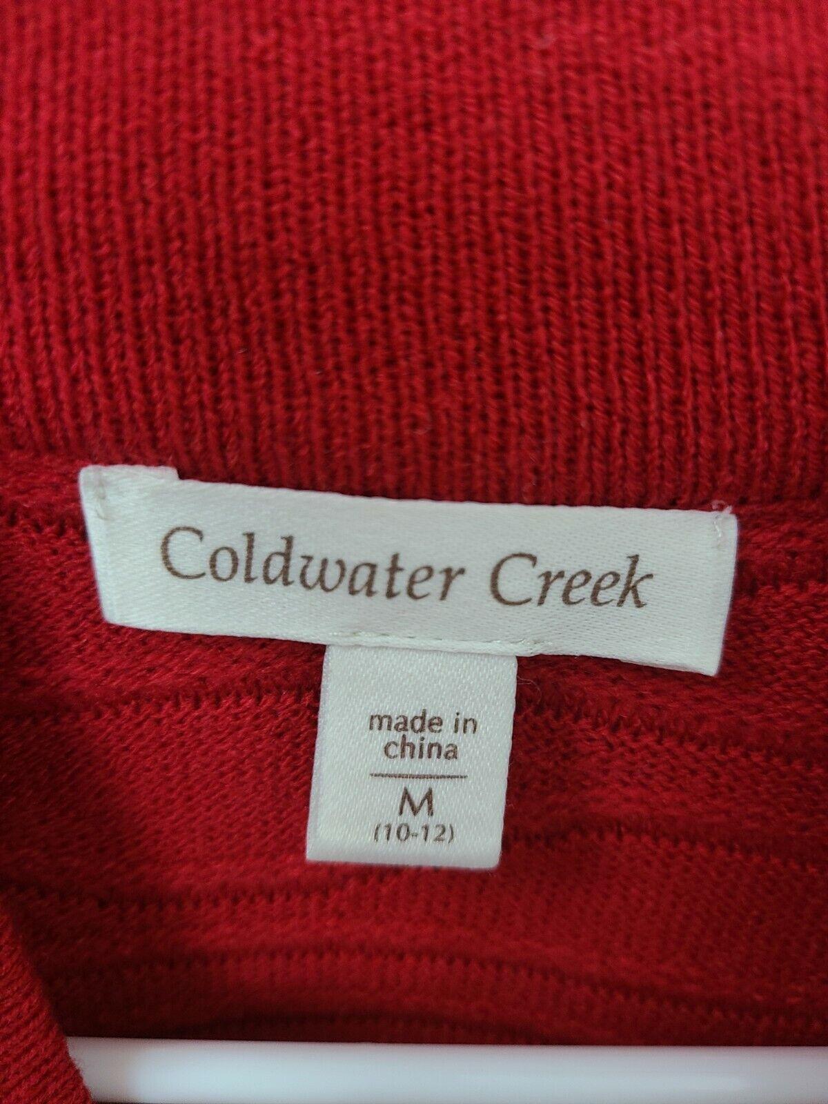 Coldwater Creek Womens Cardigan Sweater Medium Re… - image 5