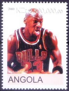 Angola 2000 MNH, Micheal Jordan basketball player, Sports