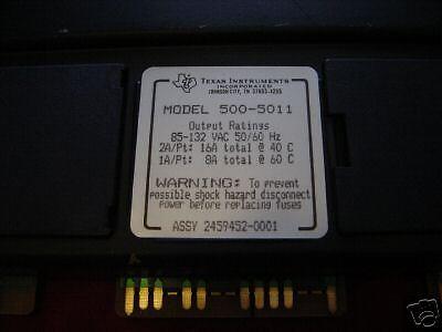 Siemens TI 500-5011 AC Output Module 5005011