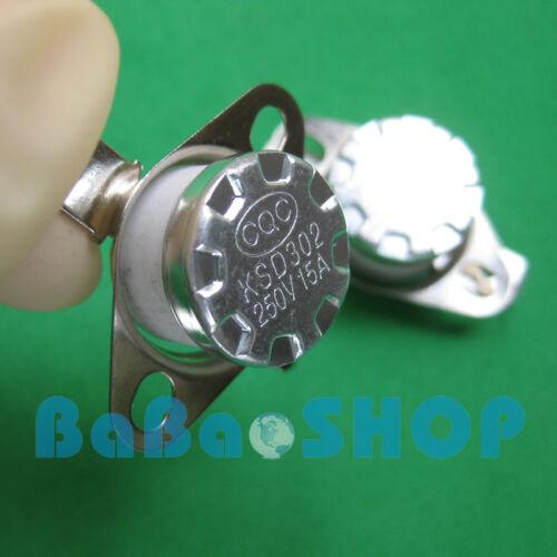 1pc KSD302//301 15A 230°C 446°F Degree Celsius N.C Ceramic Temperature Switch