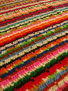 Southwest Afghan Blanket Made In Usa Handmade Throw Crochet Granny