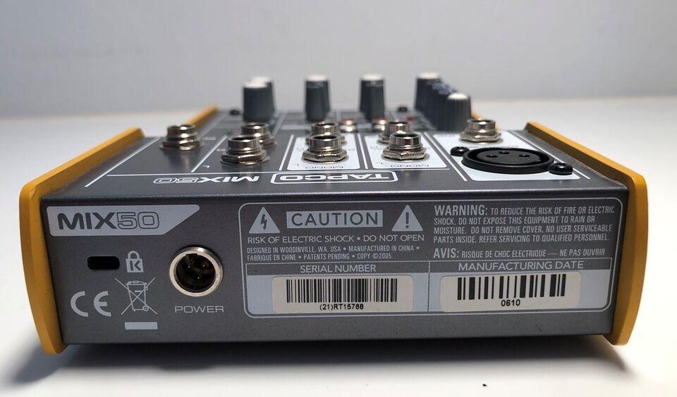 Tapco Mix50 Mixer 2/2, Tapco Mix50