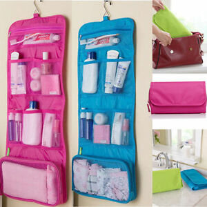 54c4a49b0864 Details about Large Travel Organiser Toiletries Hanging Wash Bag Toiletry  Cosmetic Makeup Bag