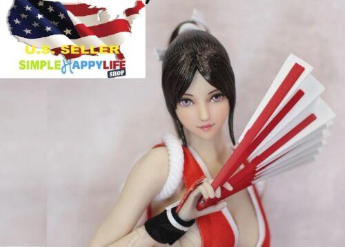 """1//6 Mai Shiranui female Head PALE for PHICEN 12 /"""" Figure OB hot toys ❶USA❶"""