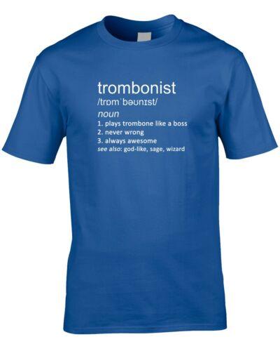 Tromboniste drôle définition T-shirt homme idée cadeau Trombone Brass Band Jazz Cool