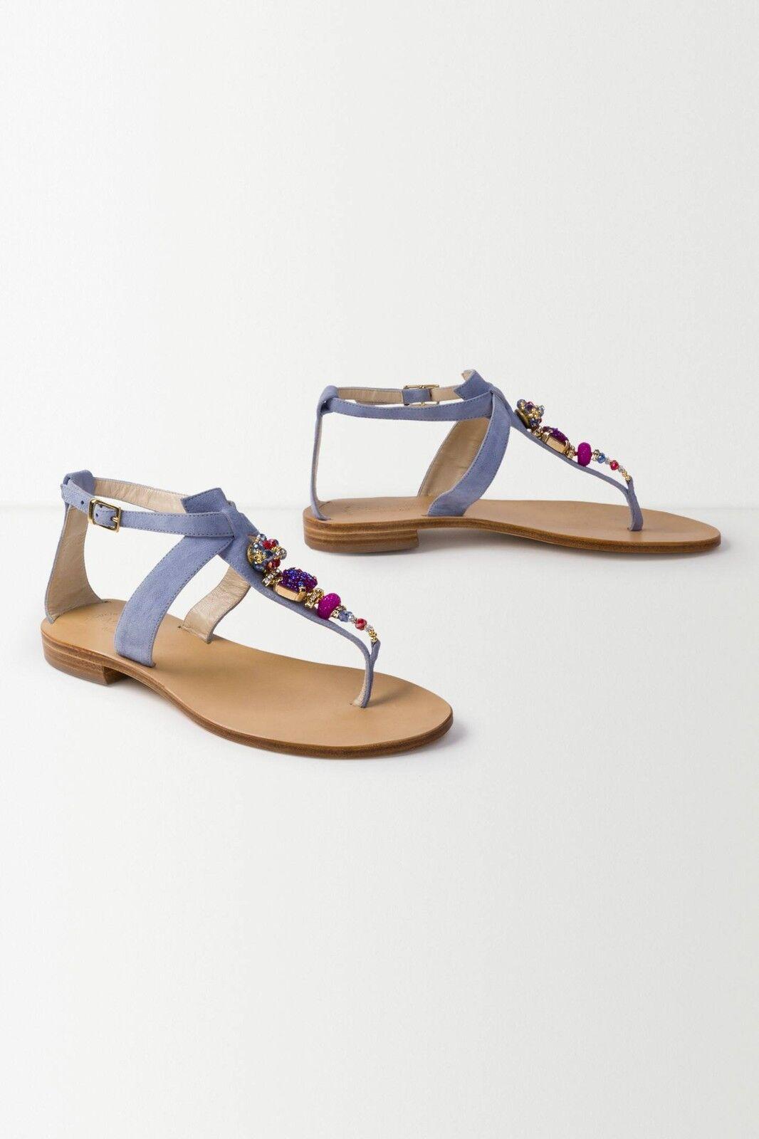 z anthropologie moda marina violetta violetta violetta lilas perles jewel sandales 7 9 40 de daim 76ce0b