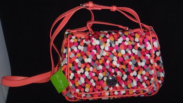 2c85ef0f5d NWT Vera Bradley Turnlock Crossbody Purse Handbag Bag Pixie Confetti Coral  Pink