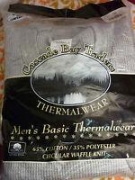 Cascade Bay Traders Grey Gray Longjohn Shirt 3x 54-56 Thermal Underwear