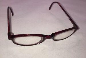 1b4ec87cc16 Image is loading Idealoptics-Mandy-Burgundy-Eyeglasses-Frames-46-20-140
