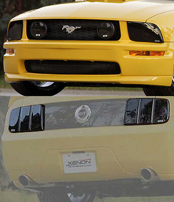 Fits 05 09 Mustang Gt Gts Smoke Acrylic Headlight Fog Light Taillight Covers 6pc Ebay