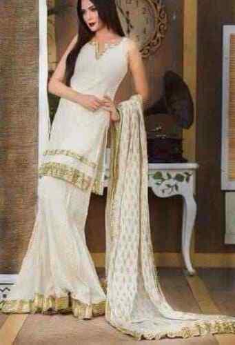 indian designer salwar pakistani sharara kameez wedding wear dress suit size L