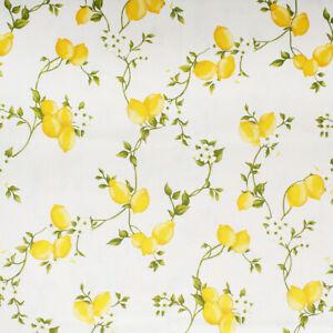 Tessuto Cotone Taglio 280x280cm Fantasia Limoni per Cuscini Tovaglie Arredo Casa